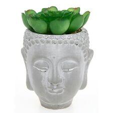 Buddha Head Succulent Pot Large, Natural Concrete Look