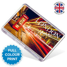 London Red Phone Box Souvenir UK Photo Gift Fridge Magnet 70 x 45 mm | Large
