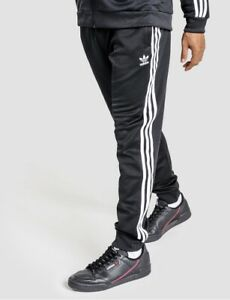 Adidas Originals Superstar Track Pants RRP $100 Cuffed Trackies Black 3 Stripes