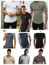 NEW MENS GYM KING LONGLINE T SHIRT TEE FITTED CREW NECK T-SHIRT S M L XL