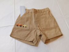 Gymboree Baby Boys Shorts Khaki with car & truck embroidered 6-12 Months NWT