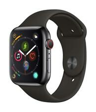 Apple Watch Series 4 44mm Space Black Stainless Steel GPS + Cellular Black Band