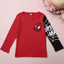 Baby Kids Boys Girls Spiderman Hero Long Sleeve Tops T-Shirt Clothes Blouse Tee