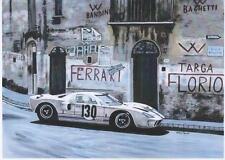 GT40 Targa Florio 1967 art print