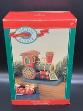 Christmas Stocking Hanger Locomotive Train Engine Vintage 1988 Hallmark RARE NEW