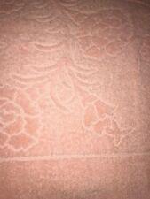 Vintage Cannon Pink Peachy Embossed Floral Design Bath Towel Bath Linens Nice