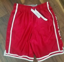 BNWT NEXT Boys Black//Orange Patterned Lined Sports Shorts