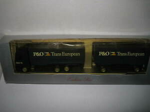 1/87 SCALE HO HERPA MERCEDES BENZ TRUCK & TRAILER  P&O TRANS EUROPEAN OLD STOCK