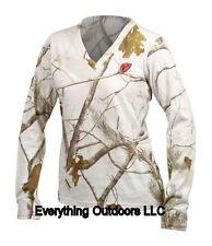 ScentBlocker Sola Womens S3 Fused Cotton L/S Tee T Shirt LCLTSC Snow Camo Size S