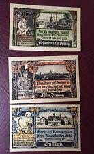 Notgeld Grabow Mecklenburg 3 Scheine von 1922 sehr guter Zustand
