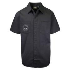 Harley-Davidson Men's Black Skull S/S Woven Shirt
