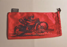 "New OAKLEY Troy Lee Large Red Mirofiber Pouch / Storage Sunglasses Bag 4"" x 7.5"""