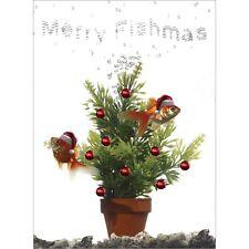 Pack of 10 'Merry Fishmas' Quality Christmas Cards Including Envelopes