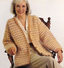 CLASSIC Houndstooth Jacket/Apparel/ Crochet Pattern INSTRUCTIONS ONLY
