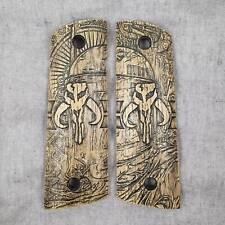 1911 Full Size Magwell Wood Grips - Boba Fett