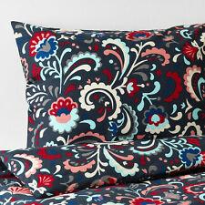 NEW IKEA KRATTEN  Full/Queen Duvet Cover w/2 pillow cases, Dark Blue, Multicolor