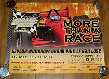 TAYLOR WOODROW GRAND PRIX OF SAN JOSE POSTER (2005) (First Year!)