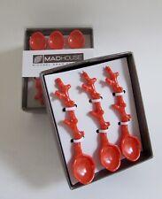 Michael Aram Orange Coral Spoons Set of 40 NIB