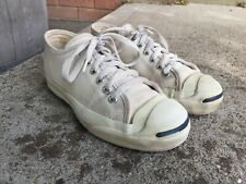 Vintage Jack Purcell Converse Made In Usa White Canvas Men's Sz 3 Wm's 5!