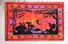 Indian  fairy dragon Wall Hanging pagan medieval psychedelic Ethnic art Tapestry