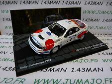 voiture 1/43 IXO Altaya rallye : TOYOTA Celica Turbo 4WD Catalogne 1992 C SAINZ