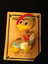 Wooden Duck Brooch Pin Vintage Gift Collectible