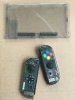 Nintendo Switch Custom Joy Con Controller Joy-Cons Clear Smoke D-PAD + BACKPLATE