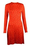 Womens Red Playing Card Print Jersey Swing Tunic Dress 6-24 3 Lengths