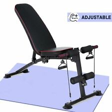 New listing Adjustable Weight Bench Incline Decline Press Foldable  Body Workout Gym Fitness