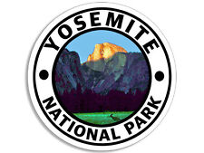 4x4 inch Round YOSEMITE National Park Sticker -deer decal rv half CA hike travel