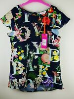 baker by ted baker navy print top age 10 new with tags