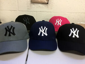 New York Yankees Cap Hat Embroidered NY NYC Men Adjustable Curved