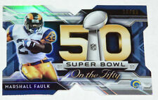 2015 Topps Chrome Football Super Bowl 50 Refractor #SBMF-Marshall Faulk  18/99