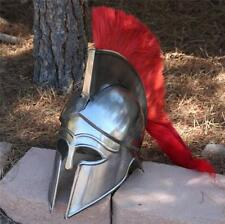 GREEK CORINTHIAN ATHENIAN SPARTAN Hoplite Warrior HELMET and Red PLUME CREST New