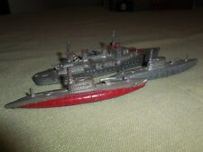 Vintage Tootsietoy Tootsie Toy Diecast Wwi or Wwii War Ship & 2 Submarines Old