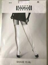Wolford Arrow Stay Up Nylon Stockings Medium China White