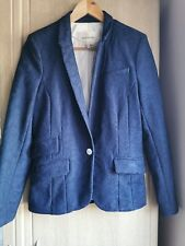 River Island Ladies Lace Blazer Jacket In Size 12 Navy