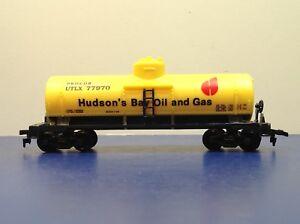 "HO Scale ""Hudson's Bay Oil & Gas"" UTLX 77970 Single Dome Tanker Freight Train"