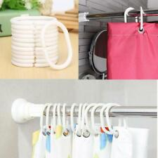 New 12Pcs Durable Plastic C Type Bathroom Shower Curtain Hook Hooks Rings Sale