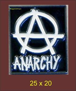 Anarchy Enamel Pin Badge Biker Punk Political
