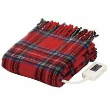 Electrical Throw Blankets Hot Blankets Red 140×82cm Made in JAPAN Nakagishi