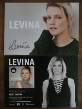Handsignierte Autogrammkarte LEVINA Eurovision Song Contest ESC Deutschland 2017
