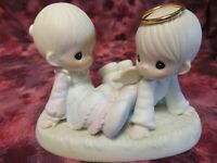 "Precious Moments #521388 ""HEAVEN MUST HAVE SENT YOU"" -Angel w/Girl- NIB"