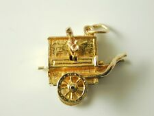 TRAVELLING CART CHARM VINTAGE 9CT GOLD DATED 1963 4.6 GRAMS