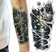 BIG Fashion 3D ROBOT ARM Temporary Tattoo UNISEX Cover Scars Gift BOYS GIRLS