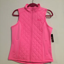 NEW Fila Girls Size 16 XL Youth Hot Pink Sweater Vest Quilted