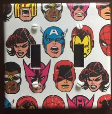 Avengers Light Switch Cover Plates Iron Man Spider-Man Capt America Marvel Comic