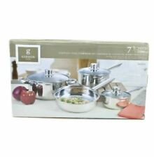 GIBSON Home Landon 7 Piece Stainless Steel Cookware Set
