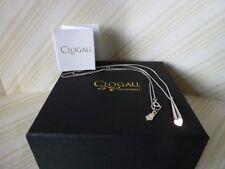 "Clogau Gold, Silver & Rose Gold Cariad Heart Diamond Pendant, 22"" Chain RRP £169"