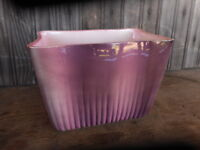 Mauve Pink Mid Century Modern  Unmarked Pottery Pot Planter Chipped